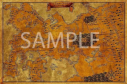Kingkiller Chronicles Map Amazon.com: Best Print Store   Kingkiller Chronicles   The Four