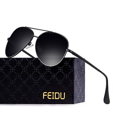 e39779cedb FEIDU High Vision Polarized Aviator Sunglasses for Men Mirrored Unisex  Outdoor Driving Sport FD 9001  Amazon.co.uk  Clothing