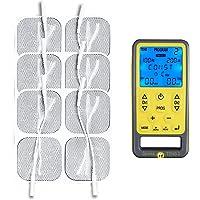 Tenscare Sports Tens 2 - Kit de electroestimulacion muscular y alivio del dolor, color amarillo y gris