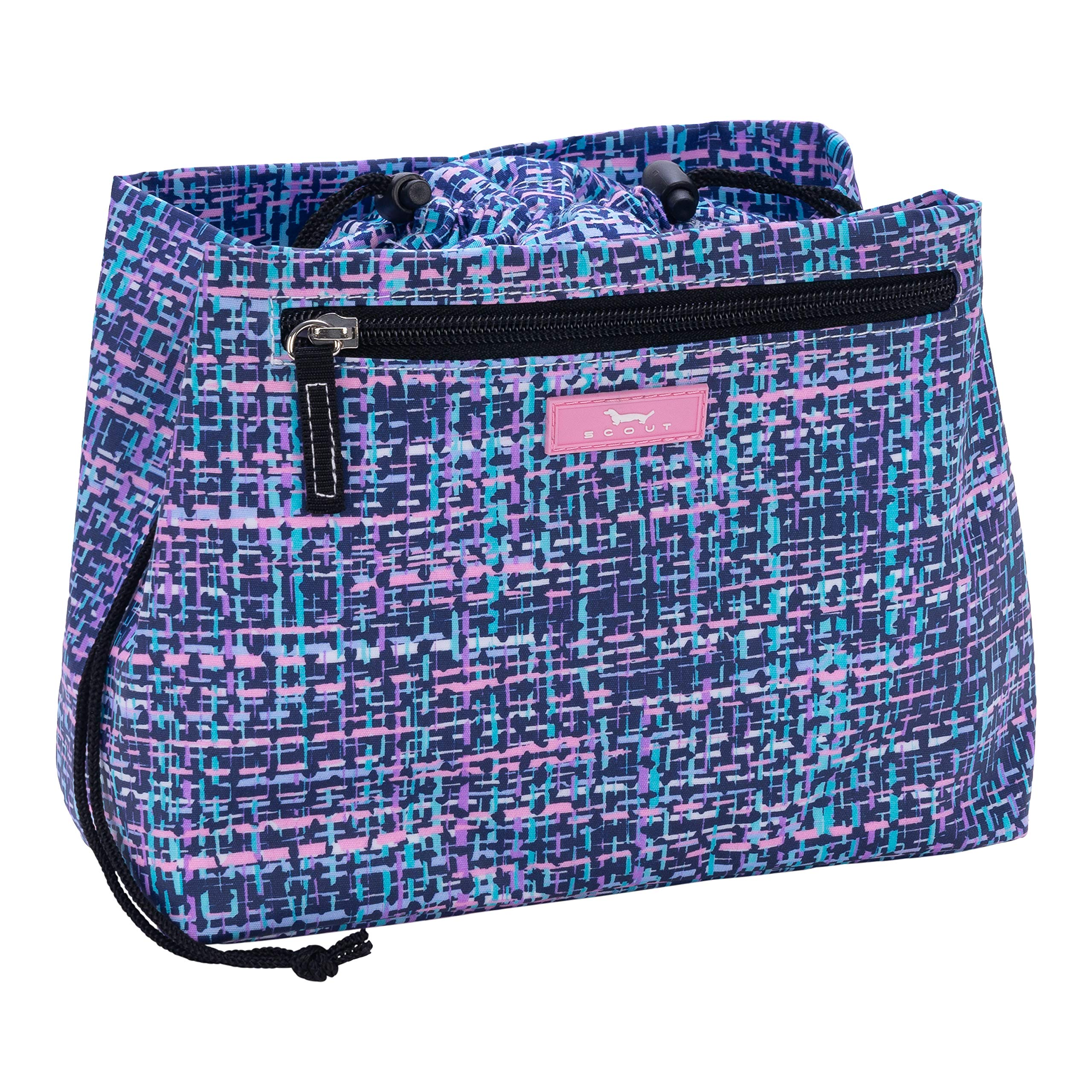 SCOUT Glam Squad Makeup & Cosmetic Bag, Cinch-Top Closure, 4 Open Pockets, Water Resistant, Tweedy Bird