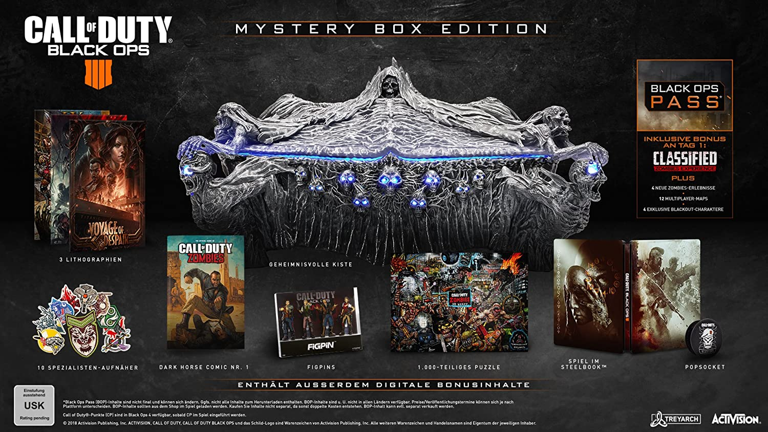 Call of Duty: Black Ops 4 - Mystery Box - [PlayStation 4]: Amazon.de Call Of Duty Black Ops All Zombie Maps on