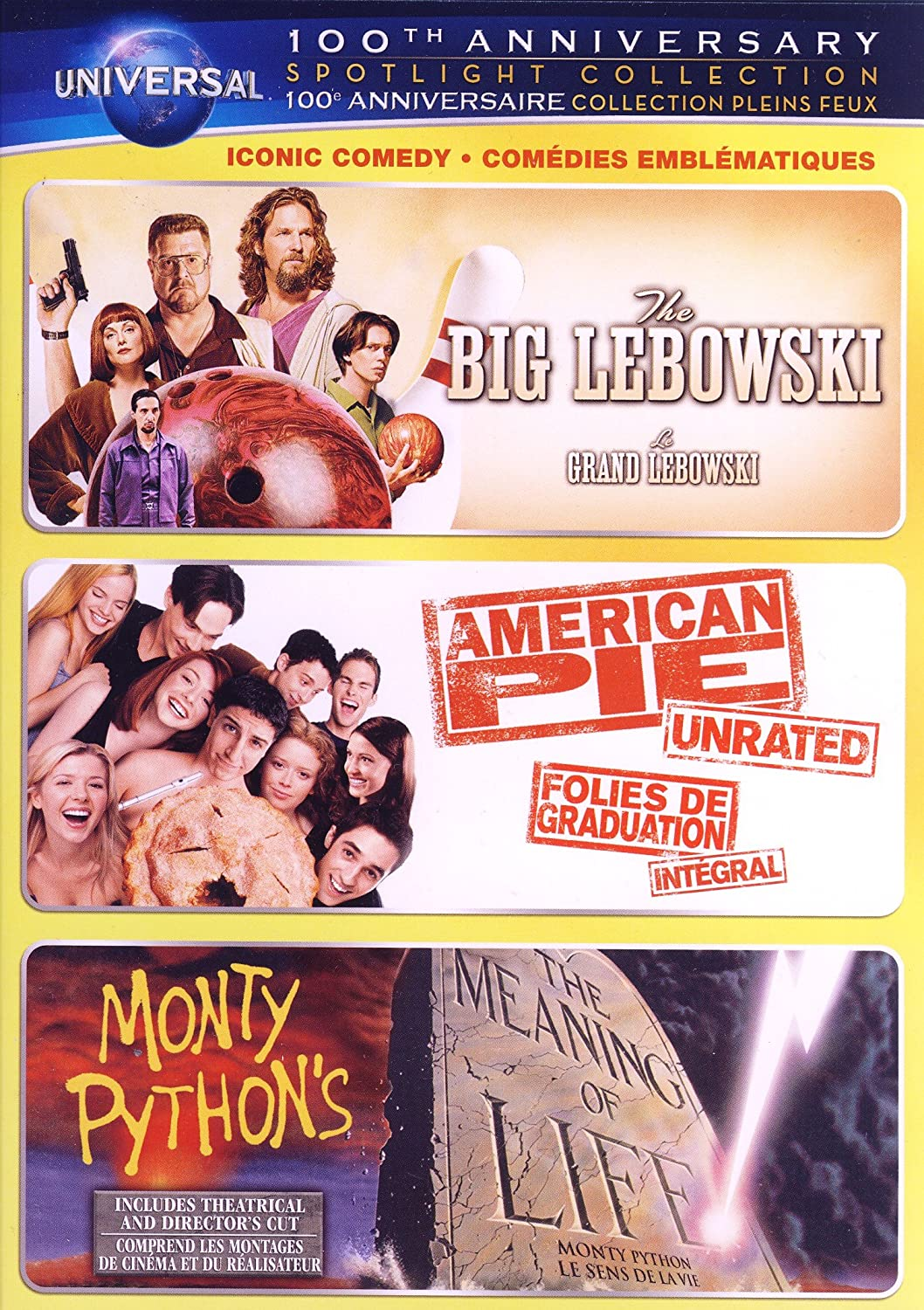 Amazon.com: Iconic Comedy Spotlight Collection (The Big Lebowski / American  Pie / Monty Python's The Meaning of Life) (Universal's 100th Anniversary ...