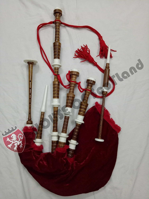 Gaita Escocesa Tamaño Completo soporte de imitación de marfil con accesorios: Amazon.es: Instrumentos musicales