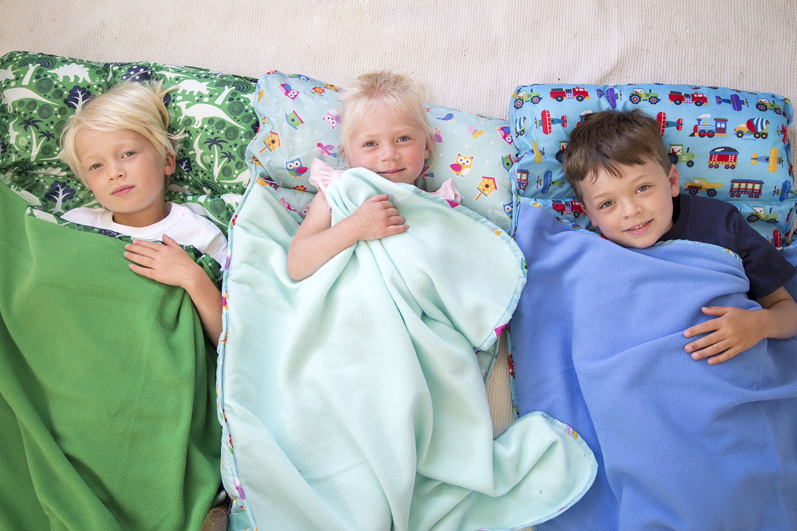 Easy Clean, Water-Resistant Nap Mat, Wildkin Children's Easy Clean Nap Mat with Built in Blanket and Pillowcase, Pillow Insert Included, Premium Microfiber, Ages 3-7 Years - Dinomite Dinosaurs by Wildkin (Image #5)
