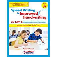 Speed Writing In Improved Handwriting - MR Script Writing - Book A (For Kids Age 6-9 Years) - Handwriting practice book in Marion Richardson writing script