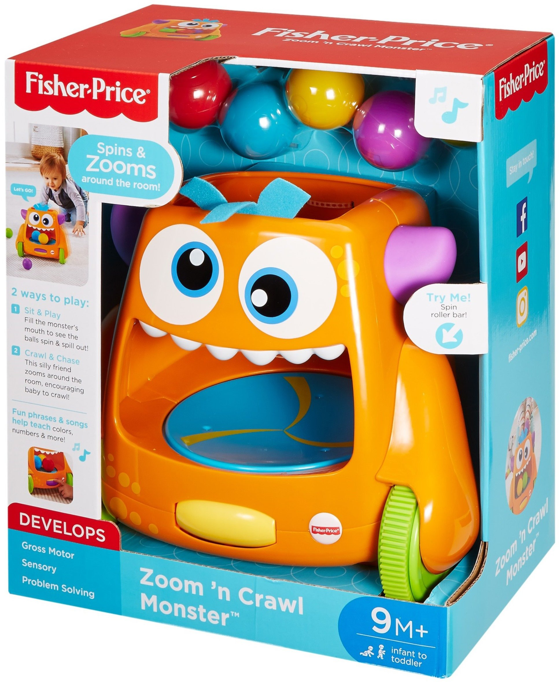 Fisher-Price Zoom 'n Crawl Monster