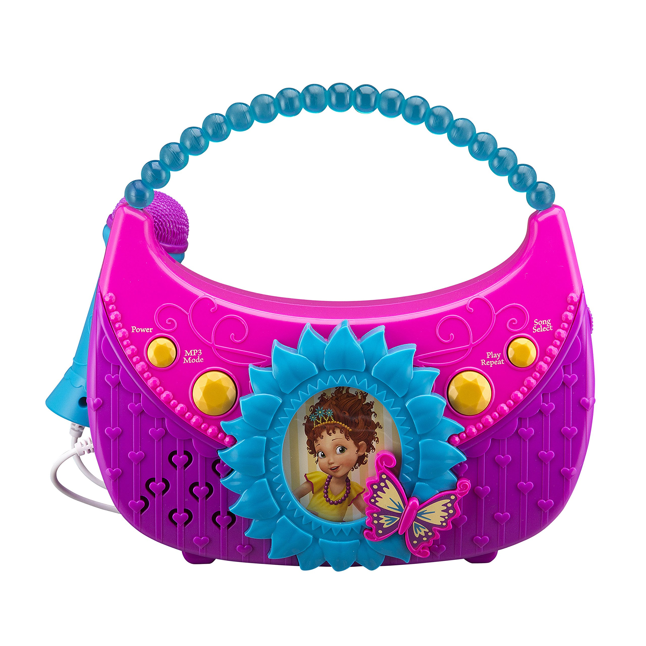Fancy Nancy Sing Along Boombox with Real Working Microphone Built In Music and Can Connect to MP3 Player by eKids