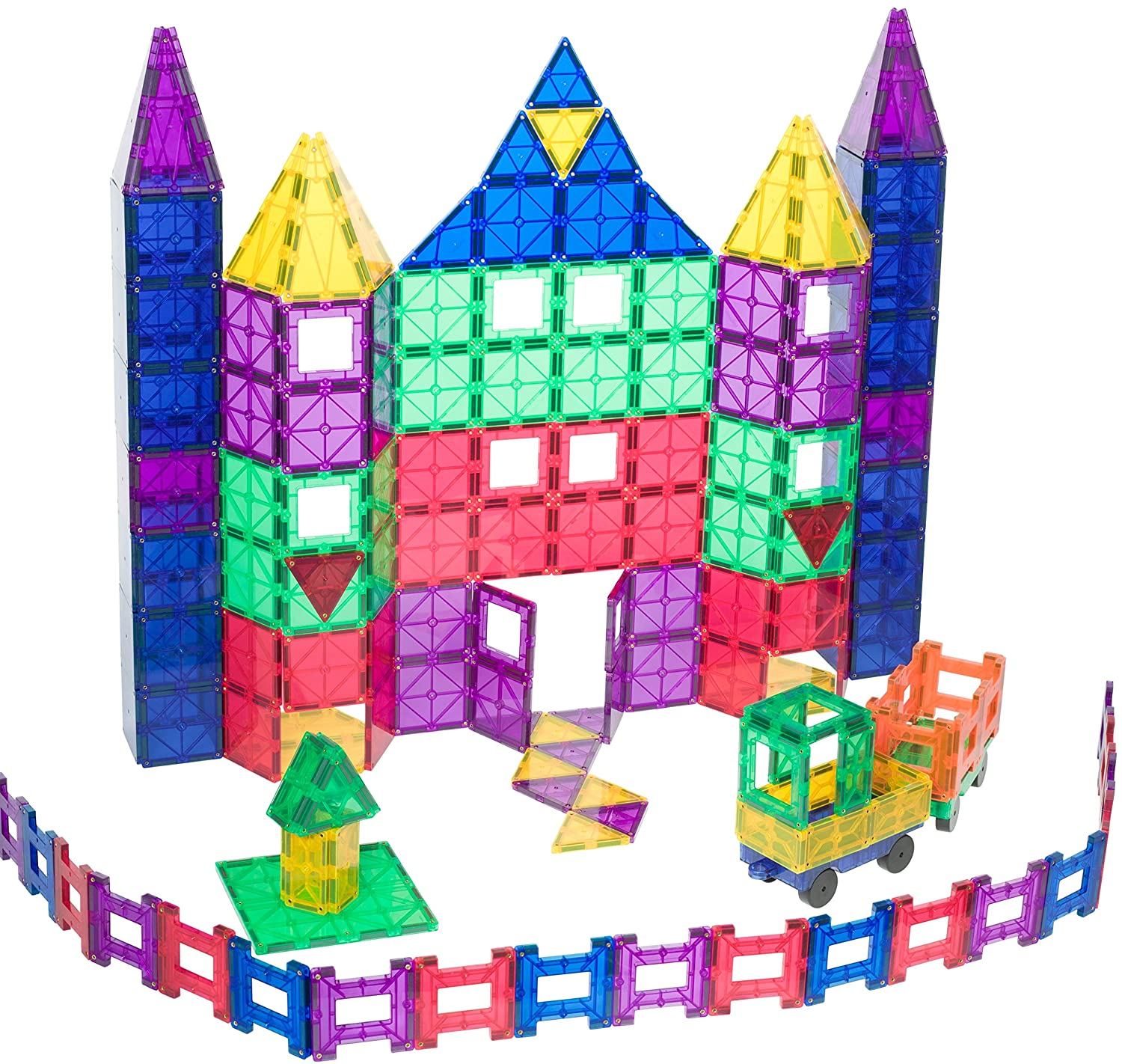 ... + 18 Piece Set: Now With Stronger Magnets, Sturdy, Super Durable With  Vivid Clear Color Tiles. 18 Piece Clickins Accessories To Enhance Your  Creativity: ...
