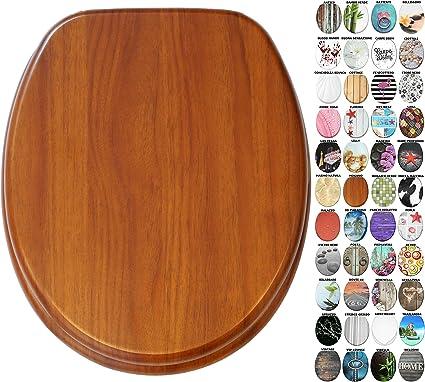 Sedile WC con chiusura ammortizzata Battente Grande scelta di belli sedili WC da legno robusto e di alta qualit/à