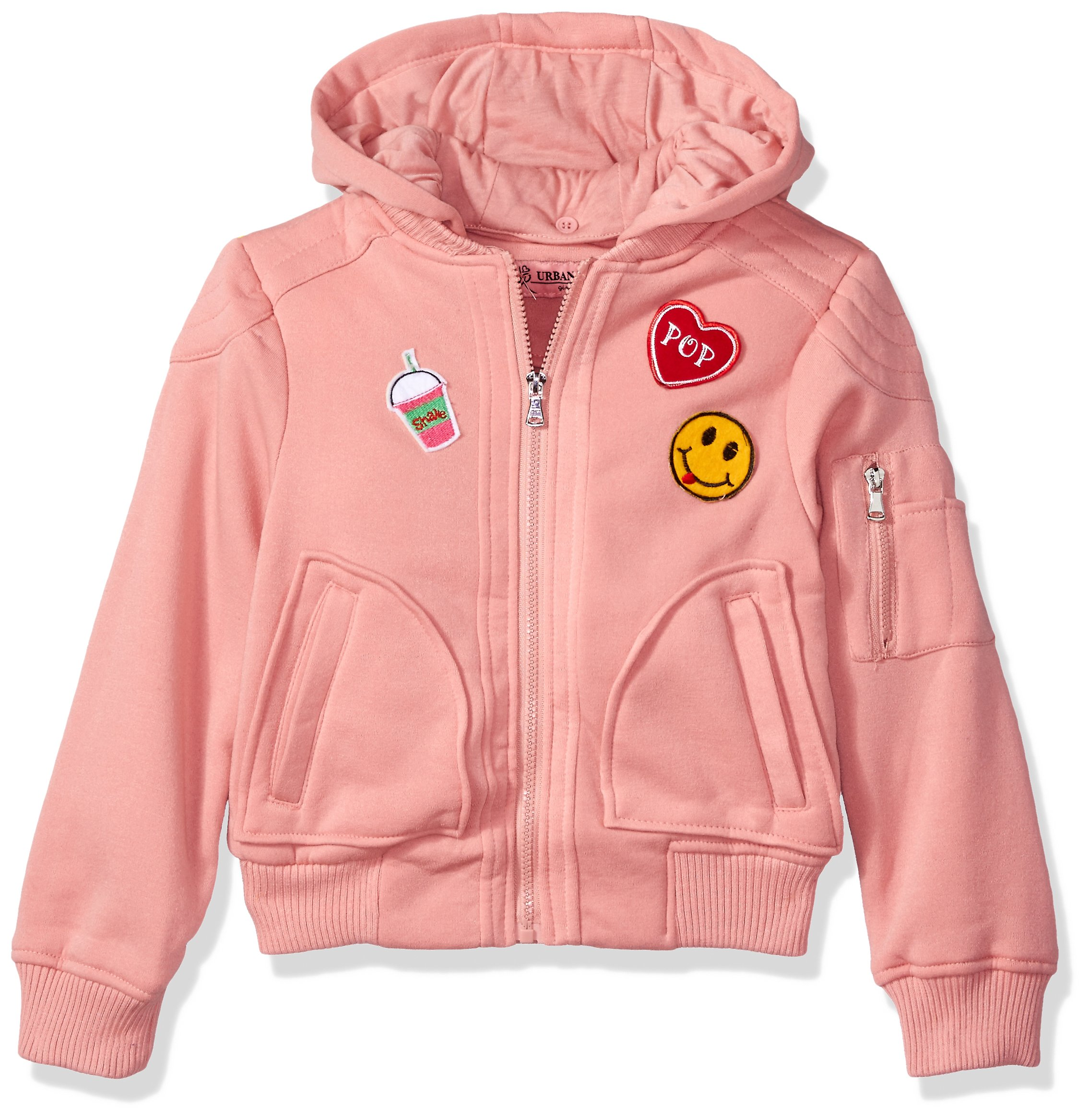 Urban Republic Big Girls' Ur Fleece Jacket, Peach Blossom 5704APB, 14 by Urban Republic
