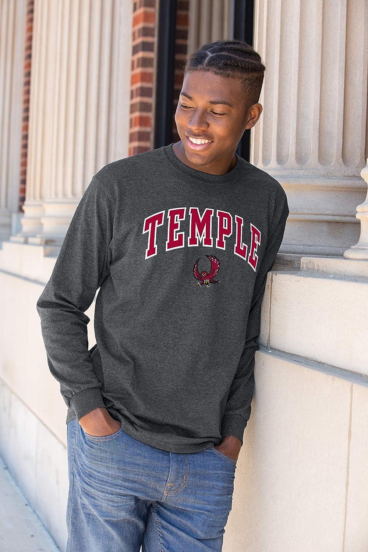 Elite Fan Shop NCAA Mens Long Sleeve Shirt Dark Charcoal Gray