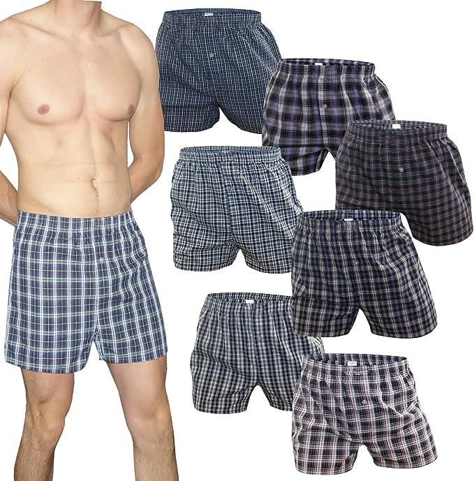 SGS – Calzoncillos boxer para hombre, 100% algodón, 5 u 8 unidades, a cuadros, multicolores 8.Stück XXXXL: Amazon.es: Ropa y accesorios