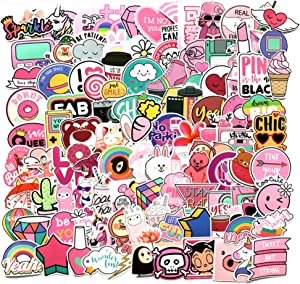 Stickers 108 Pcs/Pack Waterproof Aesthetic Stickers for Water Bottles Laptop Phone Skateboard Computer Bike Cute Vinyl Stickers Cool Fun Stickers Decals for Teens Girls Adults Kids