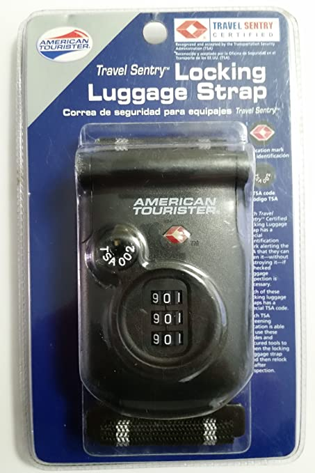 Amazon.com : Locking Luggage Strap American Tourister Travel Sentry 3 Number Combination : Sports & Outdoors