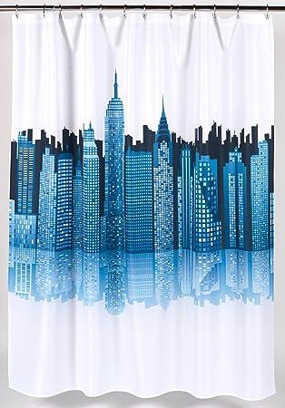 Curtains Ideas cityscape shower curtain : Amazon.com: