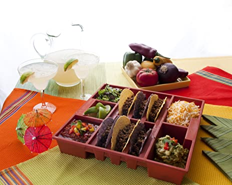 terra cotta kitchen amazoncom fiesta taco tray terra cotta kitchen utensil trays