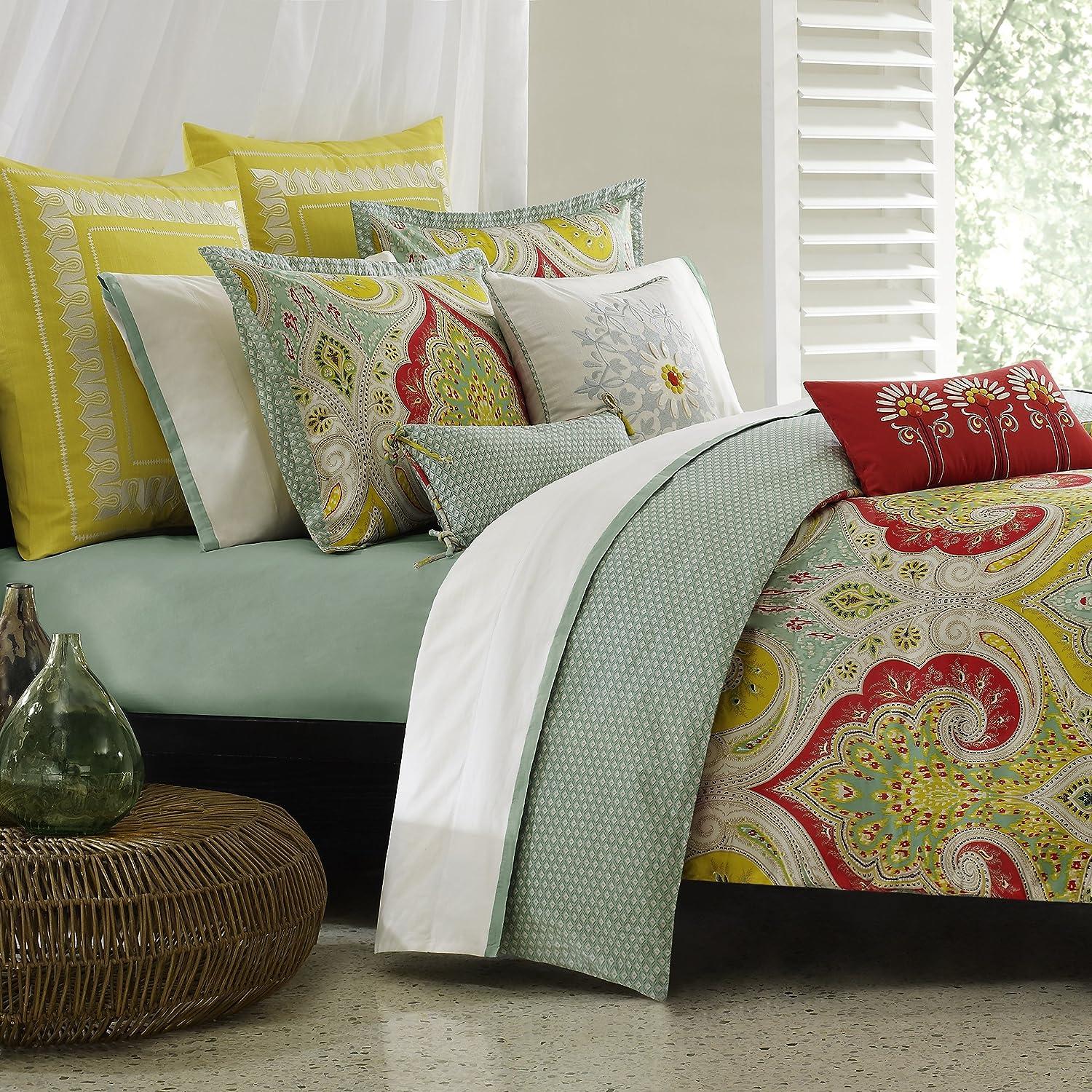 Amazoncom Echo Design Jaipur Comforter Set Queen Size Aqua