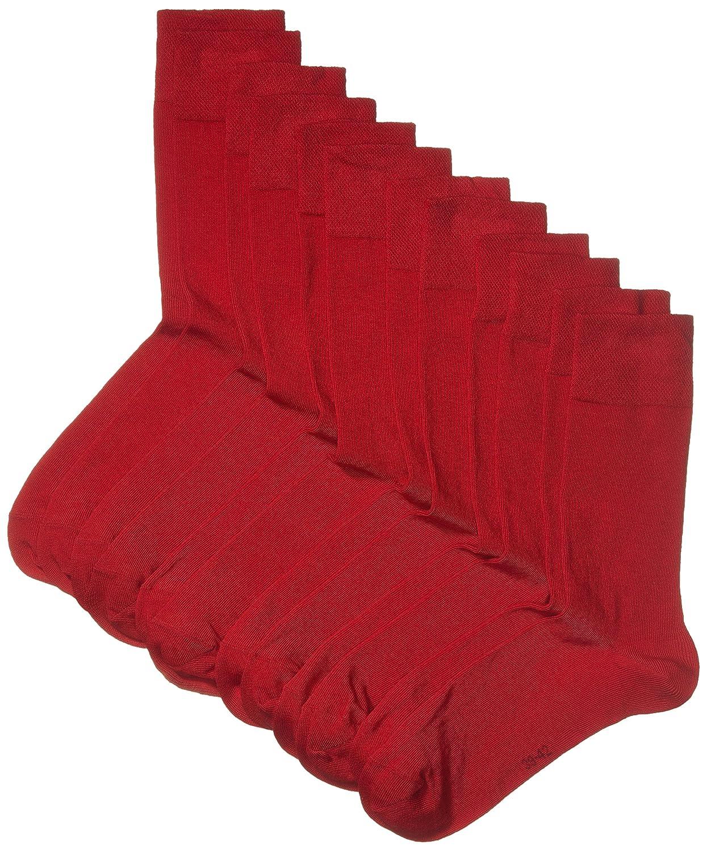 Pacco da 6 MyWay Men Socks Basic 6er Calze Rosso 39//42 Rio Red 440