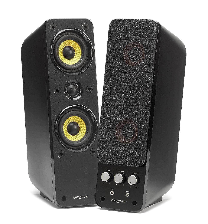 Creative GigaWorks T40 Series II - 2.0 Lautsprechersystem (Hi-Fi, Stereo/AUX-IN, Line-IN/16W RMS) schwarz 51MF1615AA000