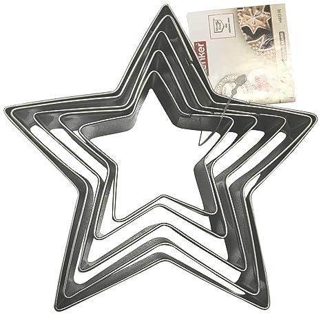 Zenker 44813 - Juego de 5 moldes, diseño de Estrella, Metal ...