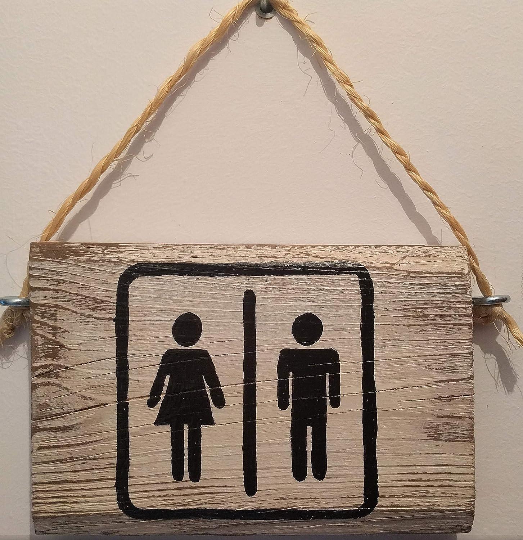 Cartel de Madera baño WC, con Frases, Personalizados ...