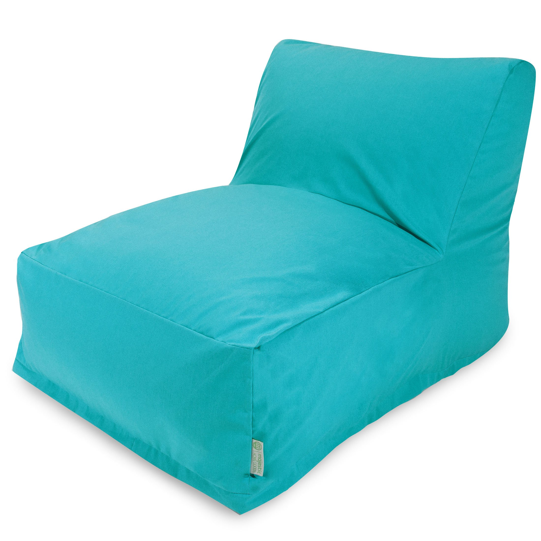 Majestic Home Goods Bean Bag Chair Lounger, Teal