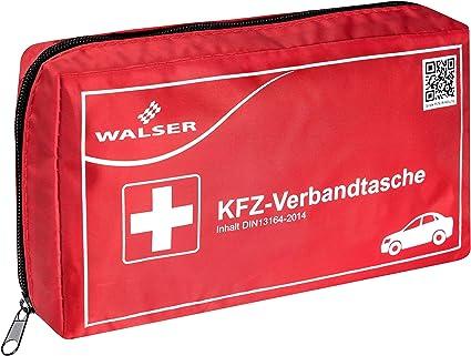 Walser 44264 Kfz Verbandskasten Rot Nach Din 13164 Erste Hilfe Set Auto Verbandtasche Auto