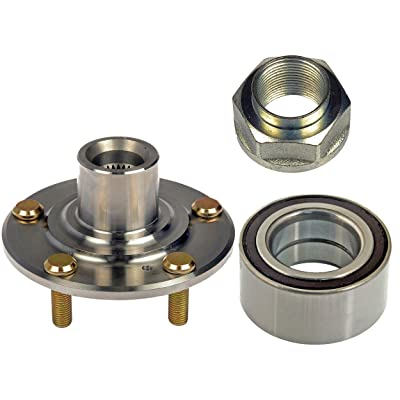 DTA D930455510073 Front Wheel Hub Wheel Bearing Kit Left or Right Fits Acura TL, TSX, Honda Accord V6 or Manual Trans, Civic Si Model Replaces Dorman 930-455, 510073: Automotive