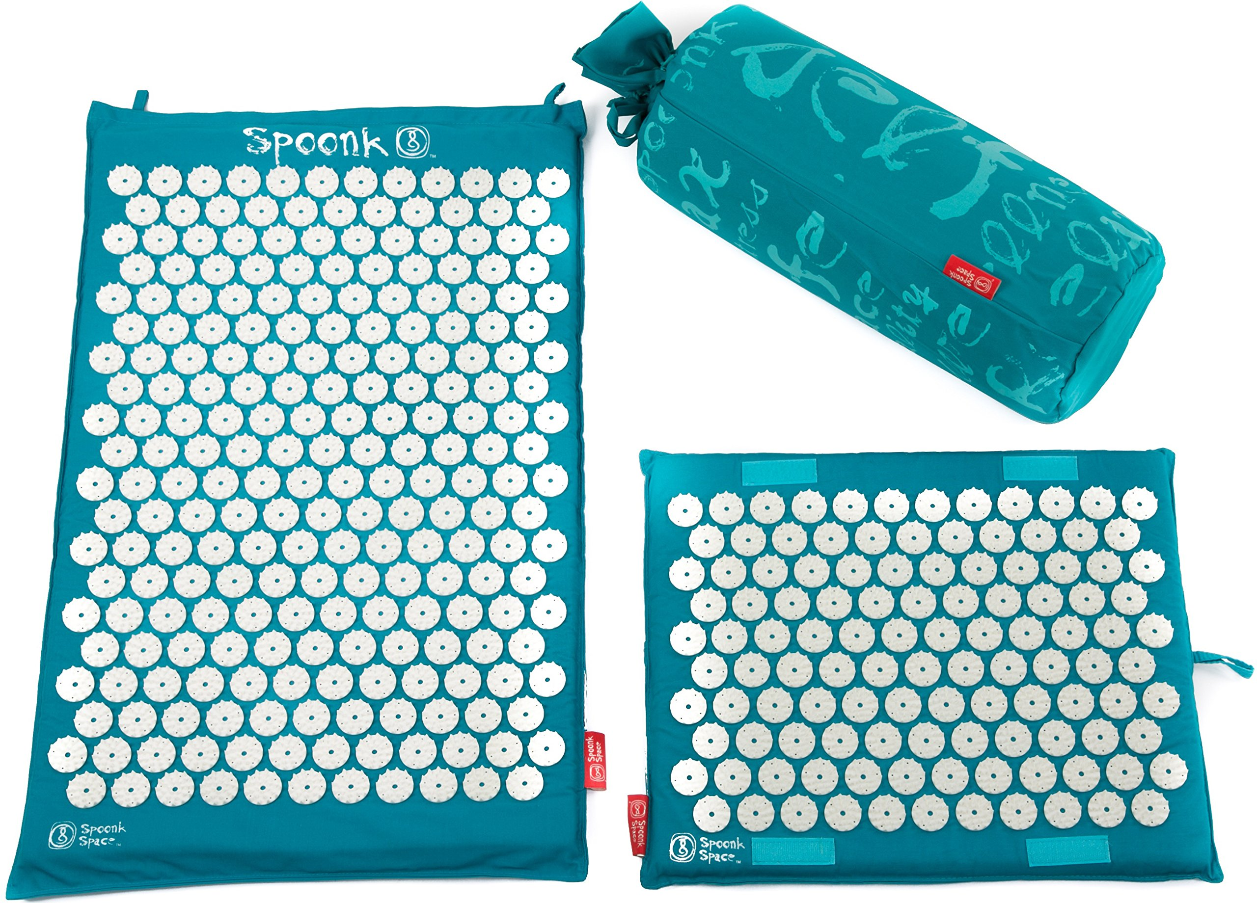 Spoonk Back Pain and Sleep Induction Combo Set/one Regular and one Travel (Vivid Blue)