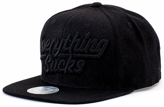 Snapback Baseball Cap Adjustable Flat Bill Hat Wool Strapback Men Women ( Black) at Amazon Men s Clothing store  977c36ab8f38