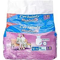 Certainty MaxPants, Adult Diaper, L, 9 Count