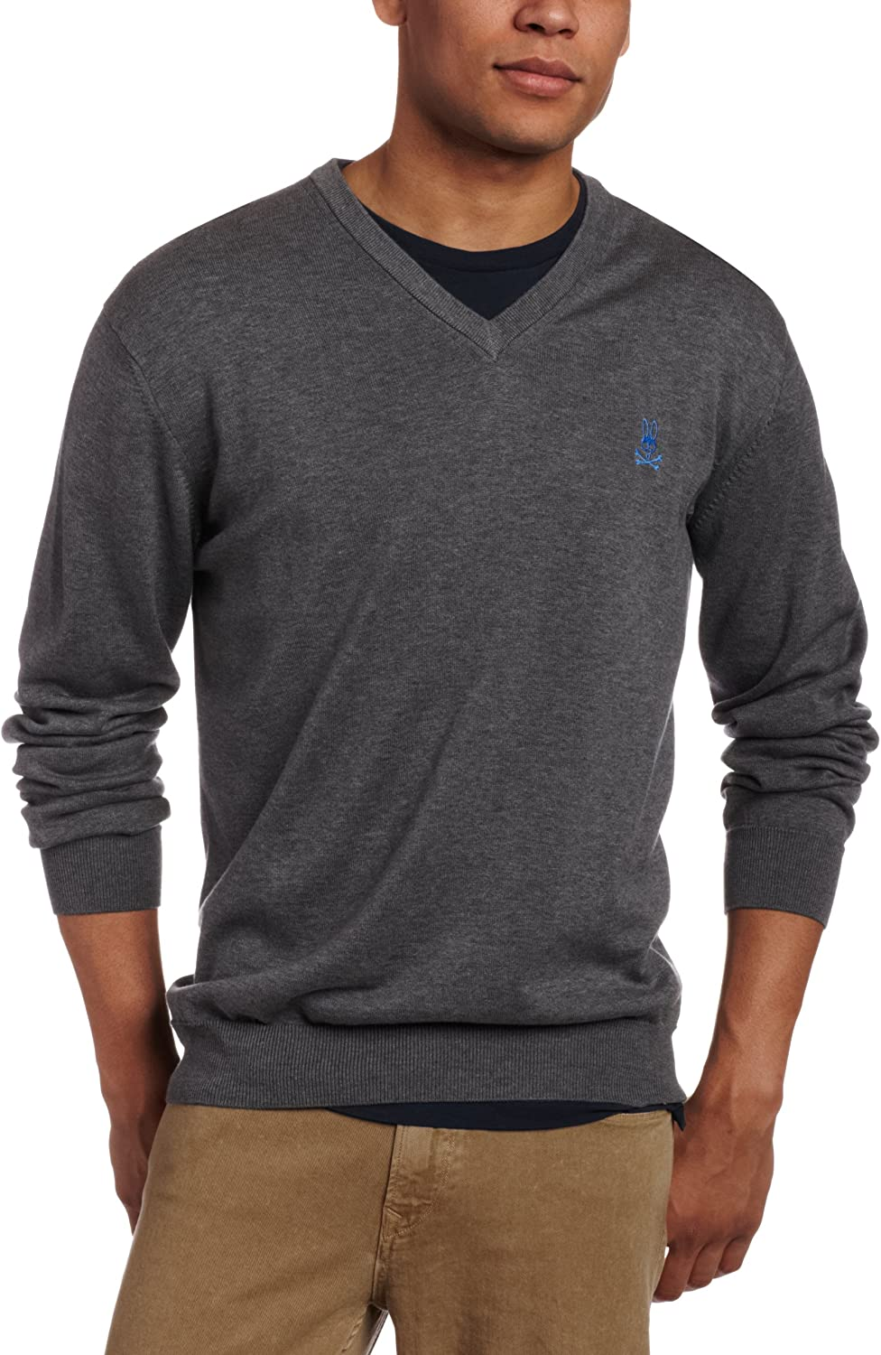 Psycho Bunny Mens V-Neck Sweater