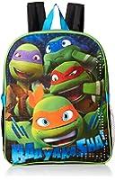 Teenage Mutant Ninja Turtles Boys' Buyacha 15 Inch Backpack with Lunch Kit