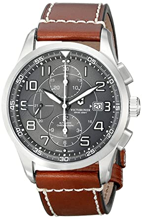 fa6a59b58d0 Victorinox Men s 241597 AirBoss Analog Display Swiss Automatic Brown Watch