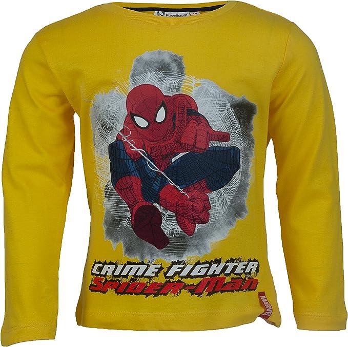 Spiderman Langarmshirt Jungen Marvel /Ökotex Standard 100