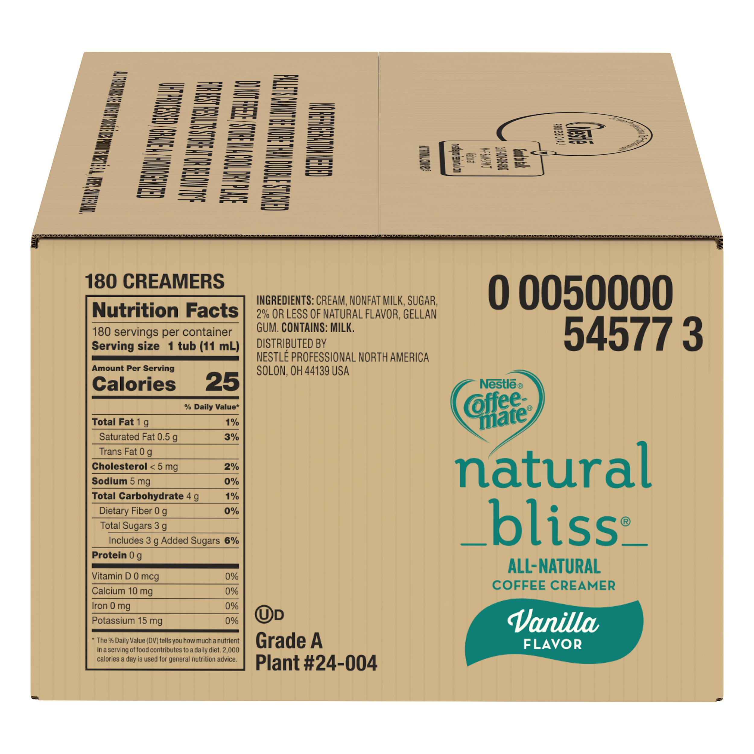 Nestle Coffee-mate Coffee Creamer, Natural Bliss, liquid creamer singles,180 Count (Pack of 1) by Nestle Coffee Mate (Image #4)