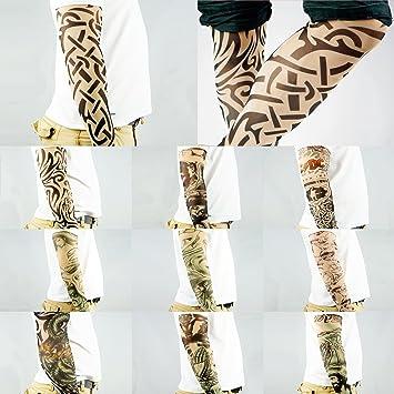 Amazon Com 10pc Fake Temporary Tattoo Sleeves Body Art Arm