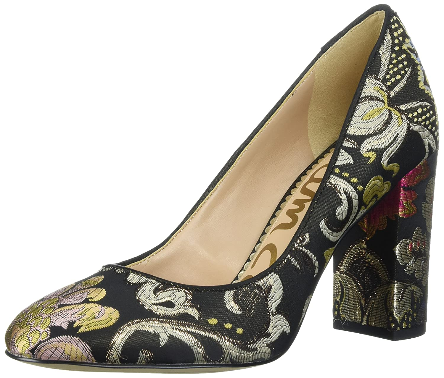 Sam Edelman Women's Stillson Pump B06XC1LMZY 5 B(M) US|Black/Multi Venezia Metallic Jacquard