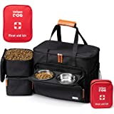 Unique Dog Travel Bag - Dog Traveling Luggage Set for Dogs Accessories - Include Pet First Aid Bag with Case Tags…
