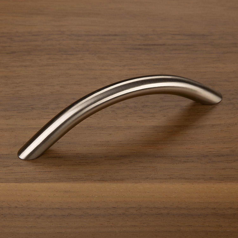 10 x SO-TECH/® Maniglia ad Arco BG01e VERO ACCIAIO INOX massiccio /Ø 10 mm//Distanza Fori 128 mm//Maniglie per Mobili Maniglia a Ponte Maniglia