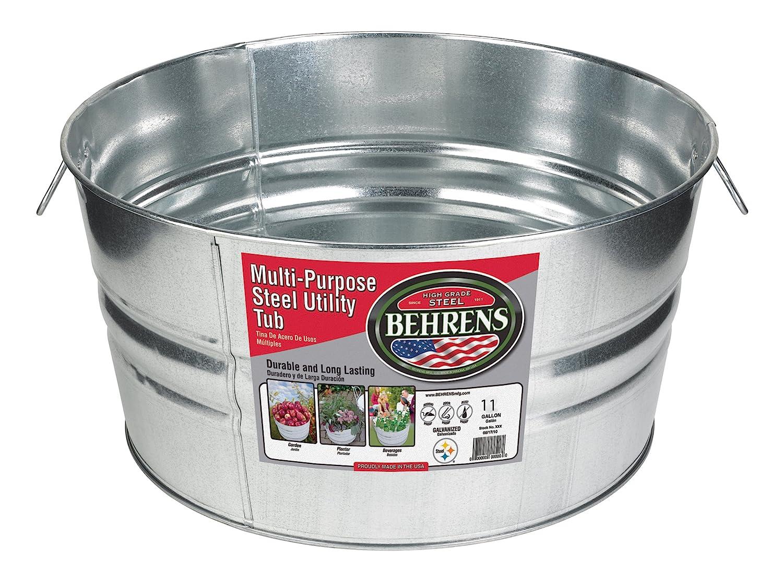 Amazon.com : Behrens 1GS 11 Gallon Round Galvanized Steel Tub ...