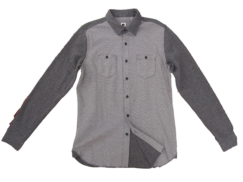Howe Cloud Maze Striped Long Sleeve Button Down Shirt Mens Size ...
