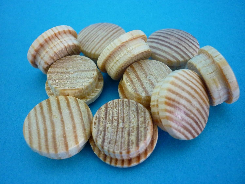 1 Packung Holz Abdeckkappen 6012 Buche ged/ämpft 12 mm