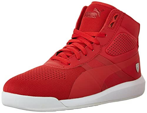 9916ba7d8319a Puma Men s Ferrari Podio Td Mid Sf Rosso Corsa-White - Size 8  Buy Online  at Low Prices in India - Amazon.in
