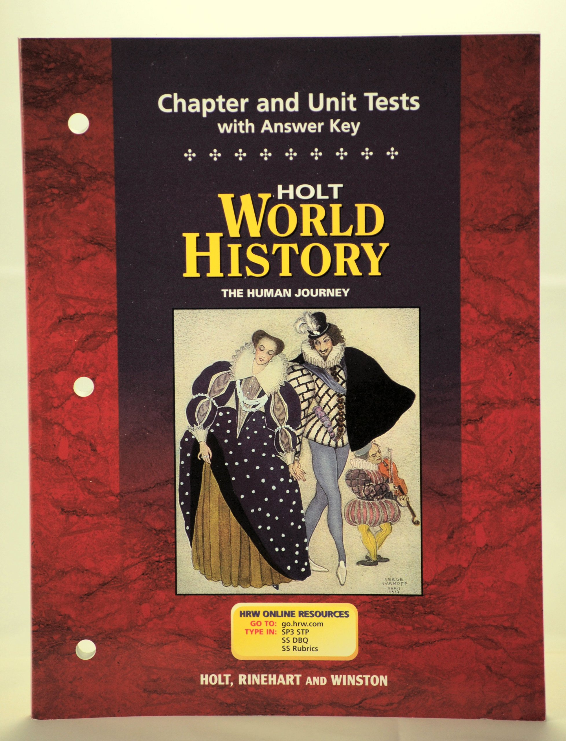World history the human journey chapter and unit tests holt world history the human journey chapter and unit tests holt rinehart winston 9780030657344 amazon books fandeluxe Images