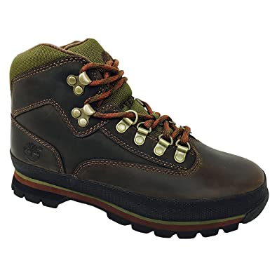 Timberland Womens Euro Hiker Brown Leather Boots (6.5)
