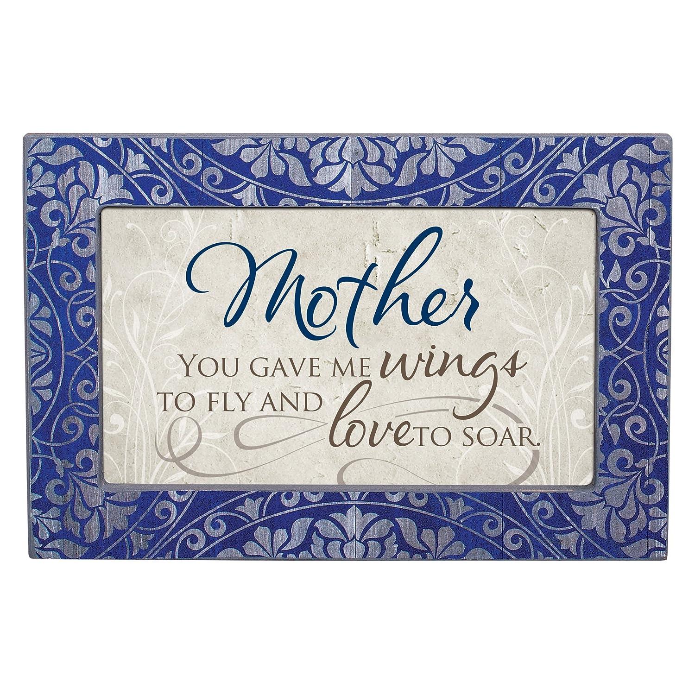 Cottage Garden Mother Love to Soar Denim Decoupage Petite Music Box Plays Wind Beneath My Wings