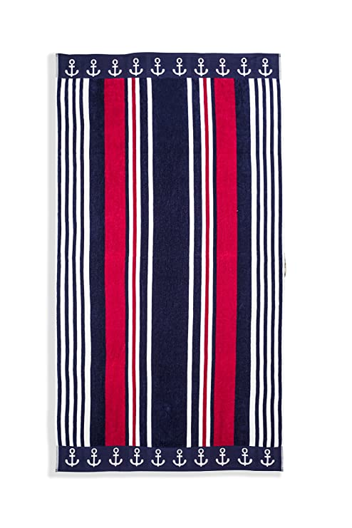 U.S. POLO asociación grande (40 x 70 cm), diseño de rayas toalla de