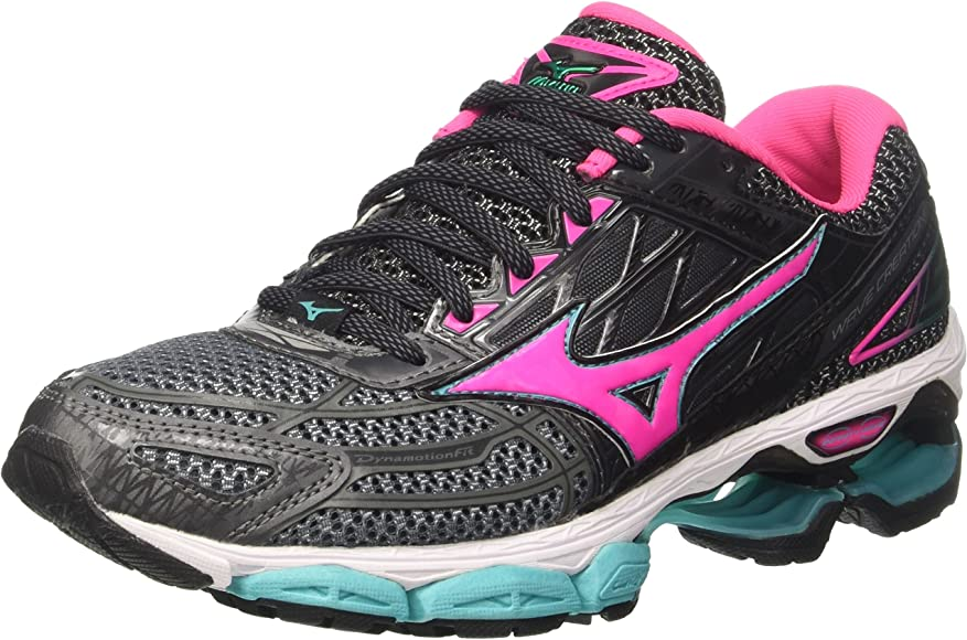 Mizuno Wave Creation 19 Wos, Zapatillas de Running para Mujer, Multicolor (Castlerock/pinkglo/Ceramic 63), 38 EU: Amazon.es: Zapatos y complementos