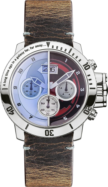 Star Wars Unisex Quarzuhr mit-Zifferblatt Chronograph-Anzeige und braun Lederband star314